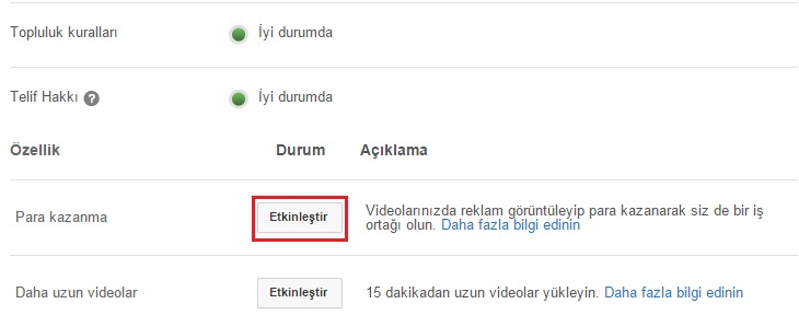 youtube kanal reklam
