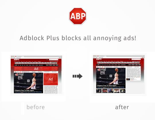 AdBlock Plus reklamları önler
