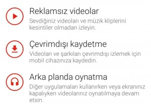 youtube red özellikleri
