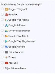 Google Aramadan İçerik Kaldrımak